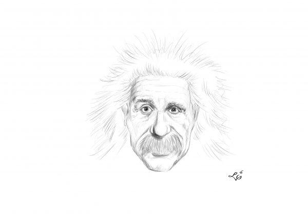 Albert Einstein karykatura