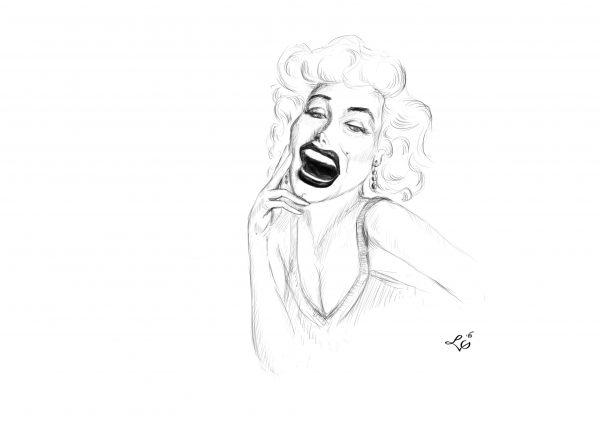 Marilyn Monroe karykatura
