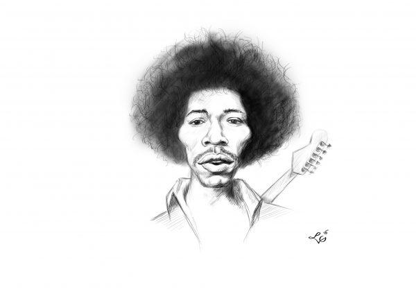 Jimmy Hendrix karykatura