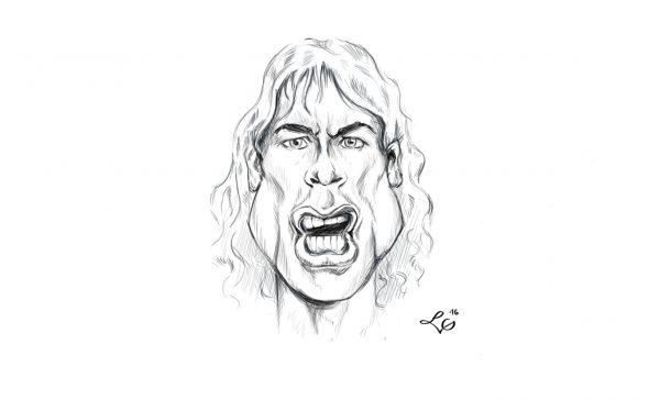 Mick Jagger karykatura