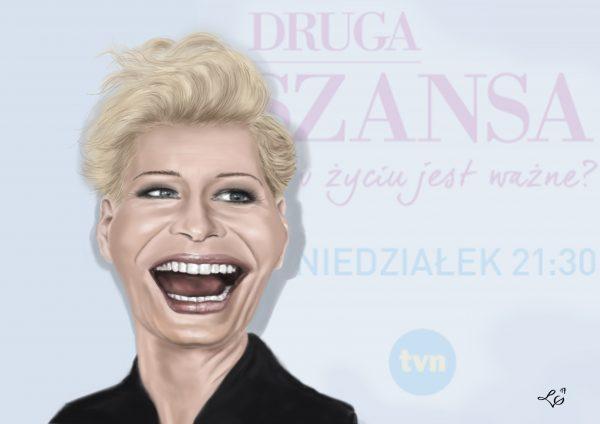Małgorzata Kożuchowska karykatura