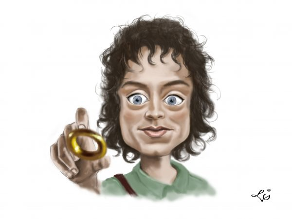 Frodo Baggins karykatura