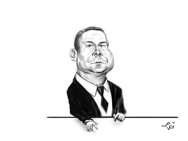 Kamil Durczok karykatura