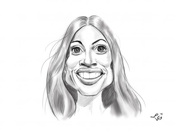 Rosario Dawson karykatura