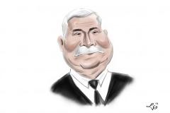 Lech Wałęsa karykatura